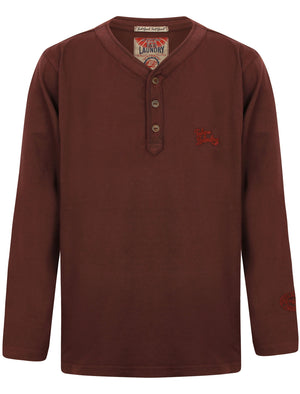 Boys K-Winter Pines Henley Top in Wine Tasting – Tokyo Laundry Kids