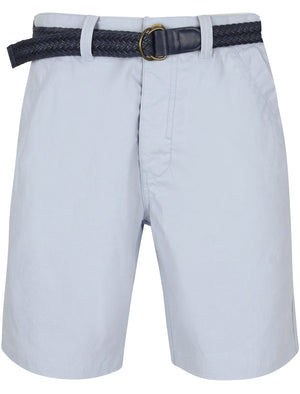 Brad Cotton Chino Shorts with Woven Belt in Kentucky Blue – Tokyo Laundry