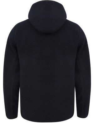 Brewer Teddy Borg Fleece Zip Through Hoody In Navy - Tokyo Laundry