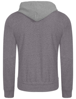 Buffalo Peak Henley Top with Hood Insert in Mid Grey Marl - Tokyo Laundry