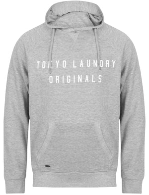 Bushwick Brush Back Fleece Pullover Hoodie In Light Grey Marl – Tokyo Laundry