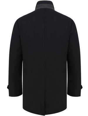 Byrne Funnel Neck Wool Rich Coat in Navy - Tokyo Laundry