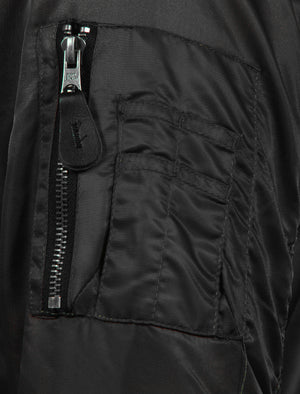 Cavour Bomber Jacket in Black - Tokyo Laundry