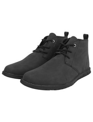Century Faux Leather Chukkah Desert Boots in Black – Tokyo Laundry