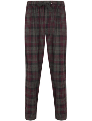 Chamois Brushed Flannel Checked Lounge Pants in Eggplant – Tokyo Laundry