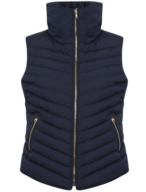 Chervil Padded Gilet With Funnel Neck In Peacoat – Tokyo Laundry