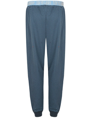 Claire Polka Dot Print Cotton Lounge Pants in Placid Blue - Tokyo Laundry