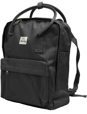 Claremont 2 Classic Canvas Backpack In Black – Tokyo Laundry