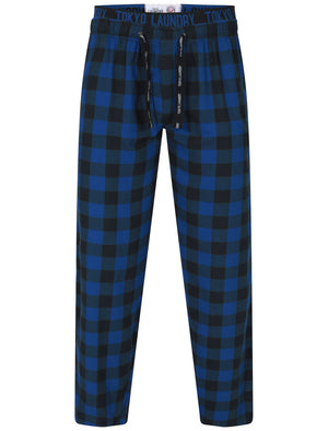 Cliffords Brush Flannel Lounge Pants in Navy Check - Tokyo Laundry