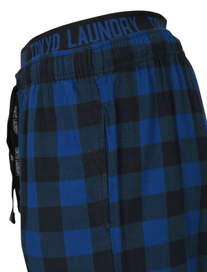 Brush Flannel Lounge Pants in Navy Check - Tokyo Laundry