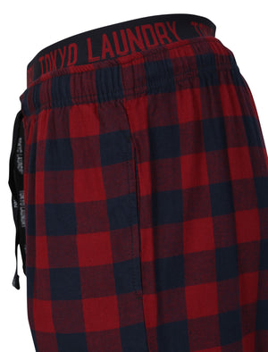 Cliffords Brush Flannel Lounge Pants in Rumba Red Check - Tokyo Laundry