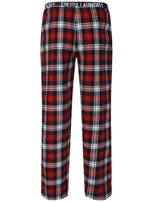 Cordella Brush Flannel Lounge Pants in Red Check - Tokyo Laundry