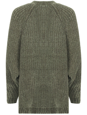 Corin Batwing Chenille Knitted Cardigan in Olive Khaki – Tokyo Laundry