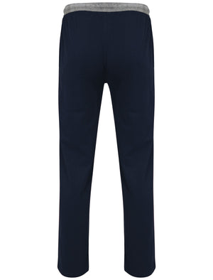 Crockford Racer Stripe Lounge Pants in Midnight Blue - Tokyo Laundry
