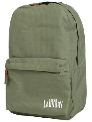 Cross Avenue Canvas Backpack In Khaki - Tokyo Laundry