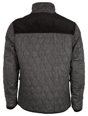 Tokyo Laundry Cumberland wool blend grey quilted jacket