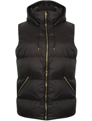 Cyra Padded Gilet in Black - Tokyo Laundry