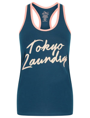 Dahlia Racer Tank Top Underwear Set in Sailor Blue / Bridal Rose – Tokyo Laundry