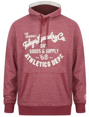 David Neppy Pullover Hoodie in Bordeaux Marl – Tokyo Laundry