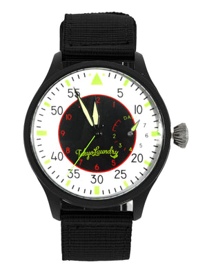 Doyle Military Style Analogue Watch in Black / White  - Tokyo Laundry