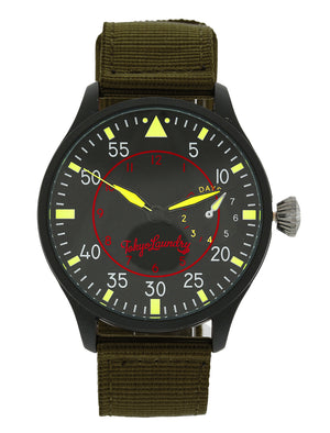 Doyle Military Style Analogue Watch in Khaki / Black - Tokyo Laundry