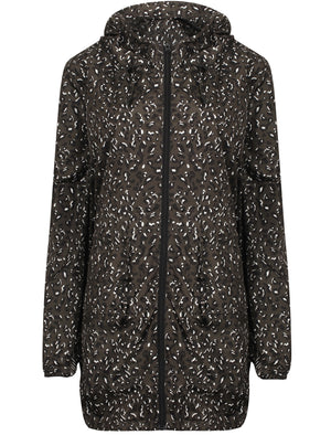 Dragonboat Leopard Print Hooded Rain Coat In Khaki – Tokyo Laundry