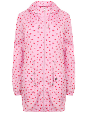 Womens Star Print Hooded Rain Coat In Pink – Tokyo Laundry