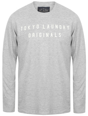 Edison Cotton Jersey Long Sleeve Top In Light Grey Marl – Tokyo Laundry