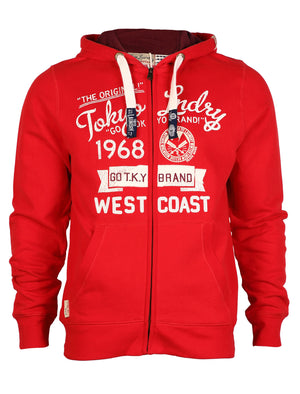 Tokyo Laundry Edvard hoodie in red