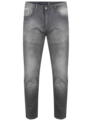 Elba Slim Fit Denim Jeans in Grey Stone Wash – Tokyo Laundry