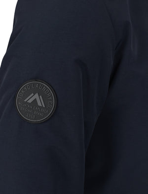 Eskell Hooded Parka Coat with Quilted Lining In True Navy - Tokyo Laundry