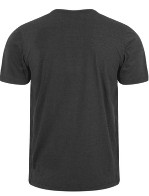 Essential Henley T-Shirt in Charcoal Marl - Tokyo Laundry