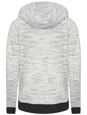 Farrah Zip Through Space Dye Hoodie in Light Grey - Tokyo Laundry