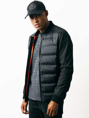 Filion Quilted Bomber Jacket in Black – Tokyo Laundry