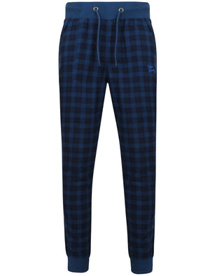 Fisher Checked Cuffed Lounge Pants in Estate Blue - Tokyo Laundry