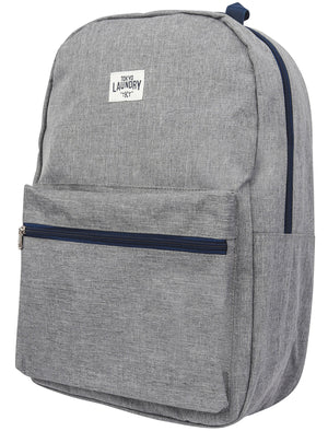 Flash Canvas Backpack with Contrast Trims In Estate Blue - Tokyo Laundry