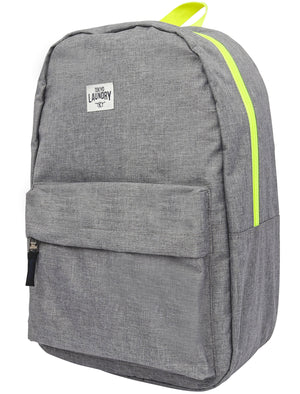 Flash Canvas Backpack with Contrast Trims In Neon Yellow - Tokyo Laundry