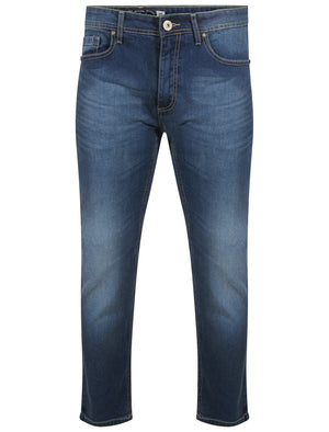 Flynn Straight Fit Denim Jeans in Mid Blue Wash – Tokyo Laundry