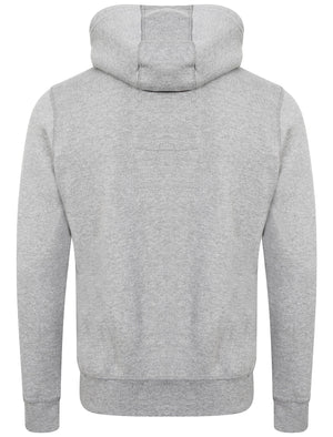 Fox Creek Layered Pullover Hoodie with Borg Lined Hood in Light Grey Marl - Tokyo Laundry
