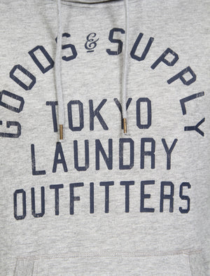Franklin Valley Cowl Neck Pullover Hoodie in Light Grey Marl - Tokyo Laundry