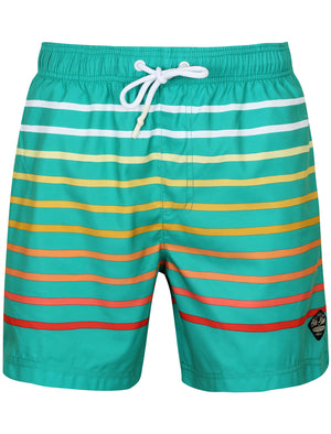 Freemason Ombre Striped Swim Shorts in Veridis Green – South Shore