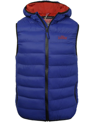 Gaviota Quilted Hooded Gilet in Sapphire - Tokyo Laundry