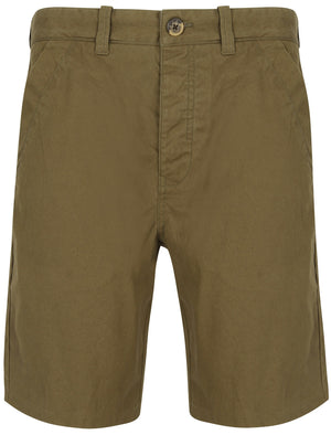 Ginak Essential Cotton Twill Chino Shorts in Military Olive – Tokyo Laundry