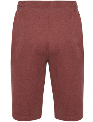 Greenbury Cotton Jersey Lounge Shorts in Bordeaux Marl – Tokyo Laundry