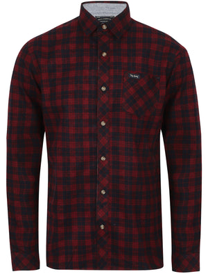 Hadleigh Checked Cotton Flannel Shirt In Red – Tokyo Laundry
