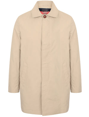 Hallows Collared Trench Coat In Stone - Tokyo Laundry