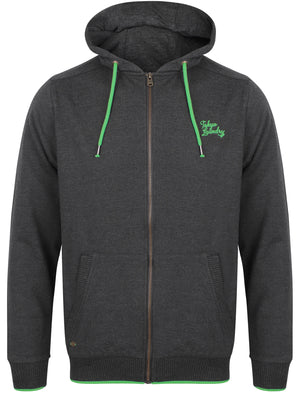 Hanover Zip Through Hoodie In Charcoal Marl / Green – Tokyo Laundry