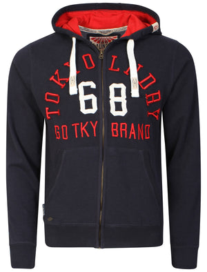 Harlem Cove Zip-up Hoodie in Dark Navy - Tokyo Laundry
