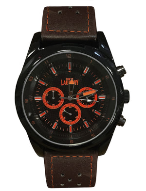 Harris Chronograph Dial Analogue Watch in Brown / Orange - Tokyo Laundry