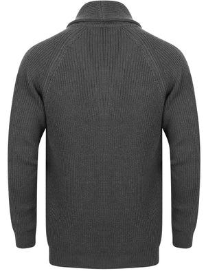 Hatton Wool Blend Shawl Neck Cardigan In Charcoal – Tokyo Laundry